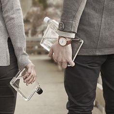 Memobottle España A5 DinA5 comprar botella de agua plana cuadrada slim water bottle design diseño sostenible regalos originales
