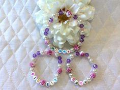 Conjunto de pulseras para la mama, hermana mayor y menor. Matching bracelets for mom, big sister and baby de Brisasboutique en Etsy