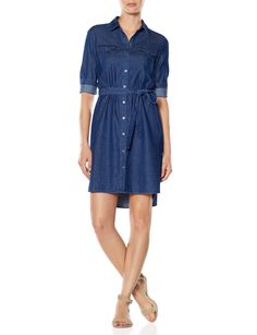 Dotted Chambray Shirtdress | Women's Dresses | THE LIMITED