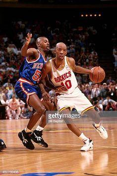 Basketball Legends, Nba Basketball, Sam Cassell, Clyde Drexler, 5 News, Houston Rockets, One Pic, Sports, Vintage