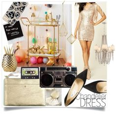 Gold party dress date night ootd ideas sweethaute
