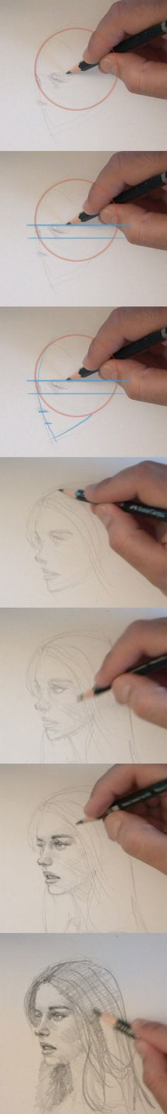 learn to draw people face, normally I don't like these kind of tutorials, but I like the end result