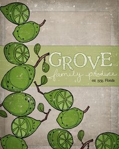 grove family produce-crate label inspired