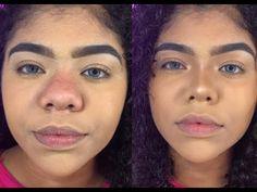 Como afinar o nariz! Usando maquiagem - YouTube Nose Makeup, Contour Makeup, Hair Makeup, Contour Brush, Eye Makeup Steps, Makeup Tips, Makeup Videos, Hair Videos, Beauty Skin