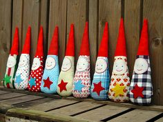 whimsical santas