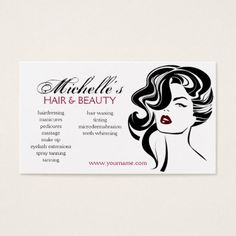 Lovely girl with wavy hair and makeup icon business card pinterest makeupartist businesscards lovely girl with wavy hair makeup icon business card colourmoves