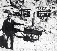 Inspiration Point Vintage Photo  California  Mt. Lowe by SunshineBooks