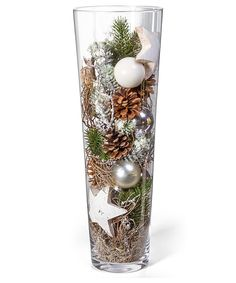 Kugelvase Anticipation – order now from Valentins - Weihnachten Christmas Vases, Silver Christmas Decorations, Christmas Centerpieces, Winter Christmas, Christmas Home, Christmas Crafts, Holiday Decor, Valentine Decorations, Christmas Inspiration