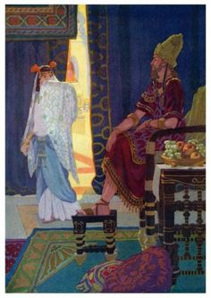 Xerxes chooses Esther for his queen. Jewish History, Jewish Art, Ancient History, Bible Pictures, Art Pictures, Lds, Book Of Esther, Mosaic Portrait, Queen Esther