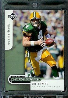 2005 Upper Deck Foundations Football Card # 33 Brett Favre Green Bay Packers - Mint Condition - In Protective Display Case ! by Upper Deck. $2.88. 2005 Upper Deck FoundationsFootball Card # 33 Brett Favre Green Bay Packers - Mint Condition - In Protective Display Case !