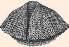 Free crochet pattern capelet