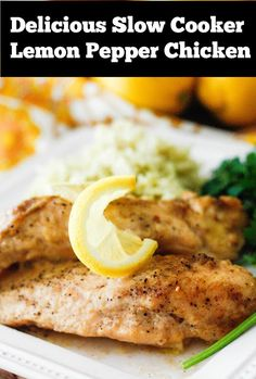 Slow Cooker Lemon Pepper Chicken, trying this for dinner tonight.mmm using the crockpot to prevent heat in the house during summer? Slow Cooker Lemon Chicken, Crock Pot Slow Cooker, Crock Pot Cooking, Slow Cooker Recipes, Cooking Recipes, Lemon Pepper Chicken Crockpot, Garlic Chicken, Lemon Peper Chicken, Moist Chicken