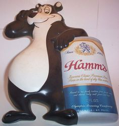 hamms beer bear - Google Search Drank a lot of these in my younger years