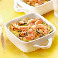 Cassolettes de la mer aux poireaux