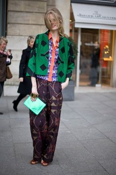 Print clashing takes confidence but once mastered?...it's a perfect day look!....x