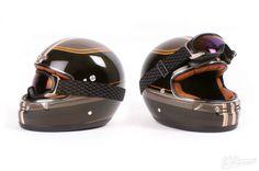 Ya os hablamos anteriormente del casco integral retro/vintage Street Track de la marca española NZI. Ideal para motos personalizadas tipo cafe racer, scram