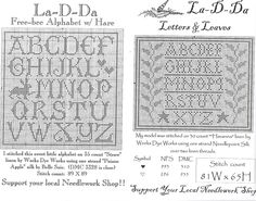 La-D-Da freebies - Alphabet & Hare and Letters & Leaves