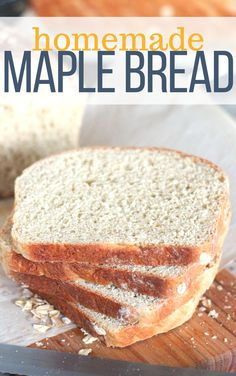 Maple Oatmeal Bread is sweetened with maple syrup (obviously!) with no other added sugar. It has a secret ingredient of coffee which is an interesting twist. Great for sandwiches or for toast and jam. So easy to make bread at home! Maple Syrup Recipes, Bread Recipes, Yeast Bread, Bread Baking, Yummy Snacks, Yummy Food, Oatmeal Bread, Lemon Bread