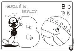 Alfabeto Smilinguido 4 tipos de letra para Baixar Grátis Letra B