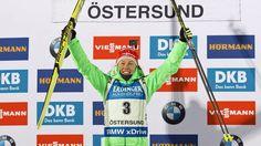 Laura Dahlmier nach ihrem Erfolg in Östersund Bmw, Female, Biathlon