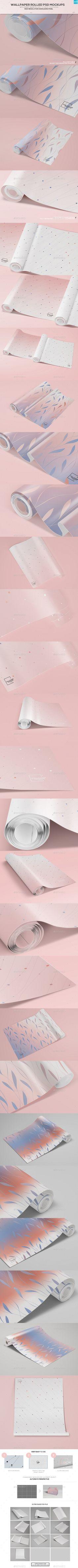 Wallpaper Rolled PSD Mockups. Download here: http://graphicriver.net/item/wallpaper-rolled-psd-mockups/14568335?ref=ksioks
