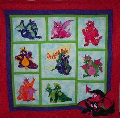 Children's Dragon Quilt.