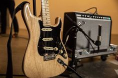 "Fender (@fender) on Instagram: ""The new Natural Ash #AmericanPro Stratocaster is doing #Straturday right... au naturel Click the…"""