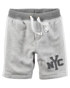 Kid Boy Athletic Marled French Terry Shorts from Carters.com. Shop clothing & accessories from a trusted name in kids, toddlers, and baby clothes.