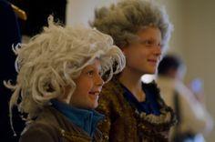 Handel House Museum - Children in wigs