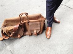 XL Overnight bag  ultimate leather carry all by LUSCIOUSLEATHERNYC, $1099.00