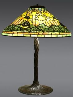 "Tiffany Studios ""poppy"" Lamp"