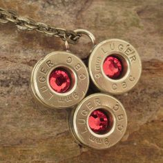 Bullet Casing Jewelry   Light Siam  9mm Shell by ShellsNStuff, $22.99