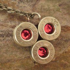 Bullet Casing Jewelry   Light Siam  9mm Shell by ShellsNStuff, $22.99
