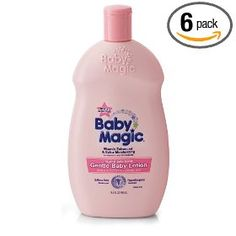 Baby Magic Gentle Baby Lotion, Original Baby Scent, 16.5-Ounce Bottles (Pack of 6), (baby magic)