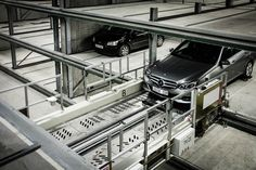 Europe's biggest robotic car park opens below Scandinavia's largest library.