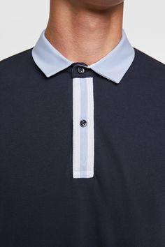 Image 5 of POLO SHIRT from Zara Men's Polo, Polo Shirt, T Shirt, Mens Golf Wear, Smart Men, Fashion Portfolio, Mens Tees, Colorful Shirts, Active Wear