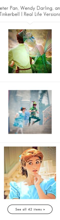 """""""Peter Pan, Wendy Darling, and Tinkerbell   Real Life Versions"""" by littlekuriboh ❤ liked on Polyvore featuring disney, disney icons, icons, peter pan, pictures, people, fillers, polaroid, images and photos"""