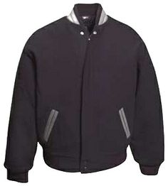 Wool Jacket with Leather Collar & Trim - SEASONAL CLOSEOUT - ON SALE NOW! #madeinUSA via BuyDirectUSA.com