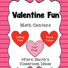 Valentine's Day Math Centers - Including Test Prep By Fern Smith This Valentine's Day Packet has a total of THREE different items for your math cen...