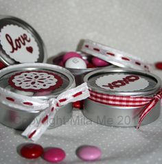 Valentines favors by MyMilaMe.com