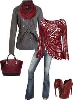 """Burgandy"" by lisajohnson20638 on Polyvore"