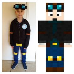Just dropped #dantdm off at school for #hero day #childreninneed !! #mystitchcraft #minecraft #feltcraft #dantdmfan #obsessedwithdantdm #biggestfan #thediamondminecart #diamondminecart #dressup #costume #handmade #iseeminecraft