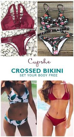 Obssesed Or Released, Crossed Bikini will set your body free in one second. Better&Hotter! Short Shipping Time. You are in style all around the year with them. Find your style and beauty at Cupshe.com