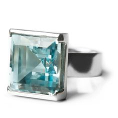 Deco topaz cocktail ring - Bespoke Jewellery