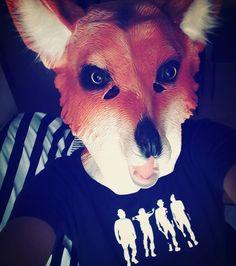 """#fox #foxmask #aclockworkorange #naranjamecanica #naranjamecánica #cooltshirt #chile #instamask #hashtag #haha"""
