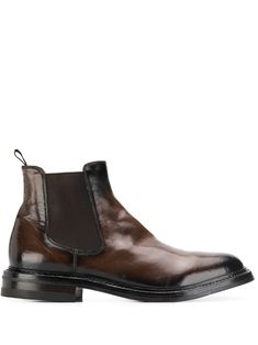 Officine Creative Elasticated Sides Ankle Boots In Brown Mens Ankle Boots, Brown Ankle Boots, Brown Leather Boots, Men's Shoes, Dress Shoes, Fashion Boots, Mens Fashion, Officine Creative, Things To Buy