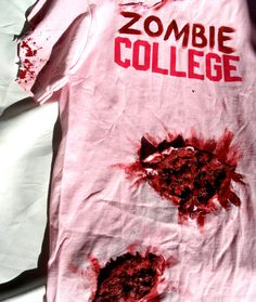 I Love Zombie College by SincerelyTwisted on Etsy, $15.00