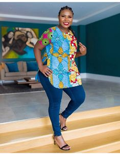 Trending Ankara Tops at the Moment African Fashion Designers, African Fashion Ankara, Latest African Fashion Dresses, African Print Dresses, African Print Fashion, African Dress, African Blouses, African Shirts, African Attire