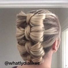 NEW TUTORIAL cute bow updo hurray for #instagram letting you do longer videos…