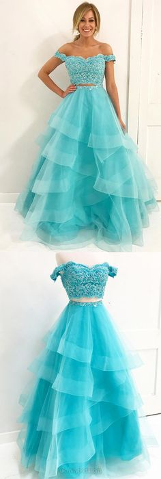 Lace Prom Dresses,Long Prom Dresses,Two Piece Prom Dresses Modest,A-line Prom Dresses Prom Dresses For Teens Organza Source by de xv azul turquesa Pageant Dresses For Teens, Prom Dresses 2018, Cheap Evening Dresses, Cheap Prom Dresses, Formal Dresses, Ball Dresses, Dress Prom, Frock For Teens, Party Dresses